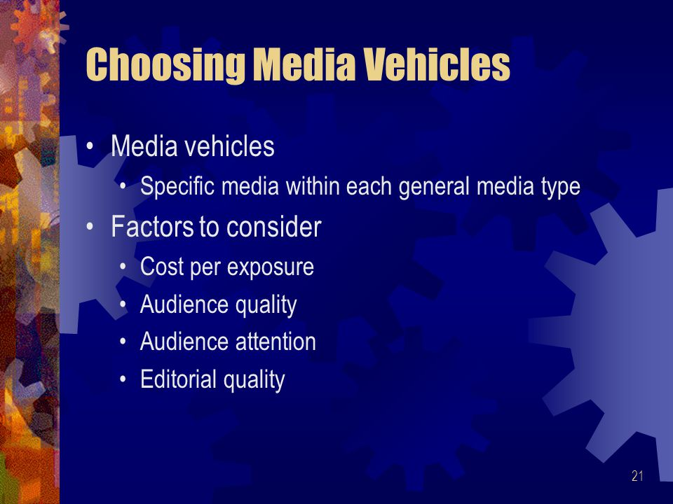 Choosing Media Vehicles