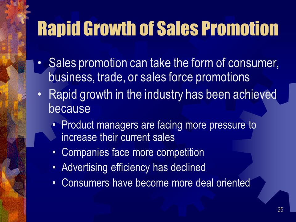 Rapid Growth of Sales Promotion