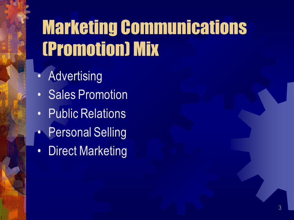 Marketing Communications (Promotion) Mix