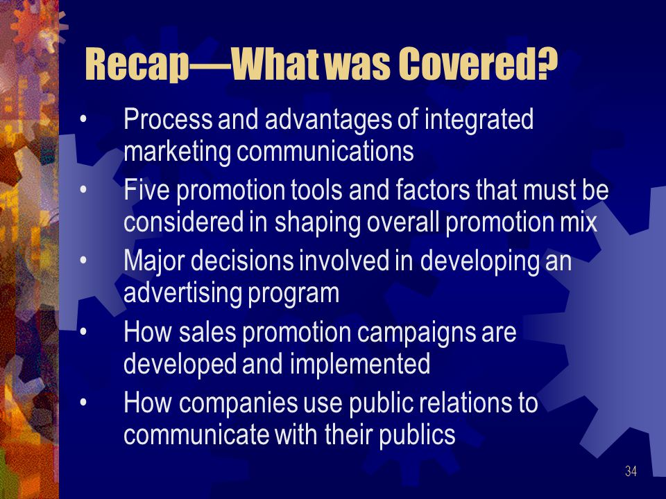 Recap—What was Covered