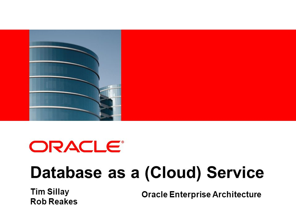 Database As A (Cloud) Service