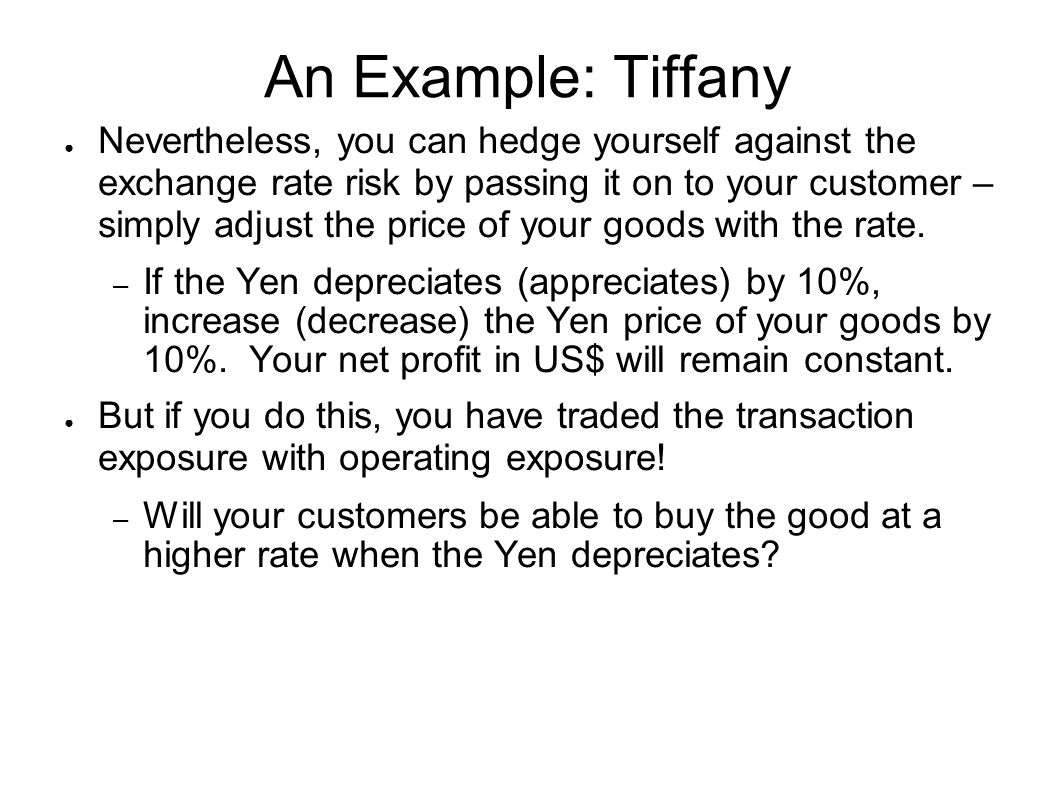 An Example: Tiffany