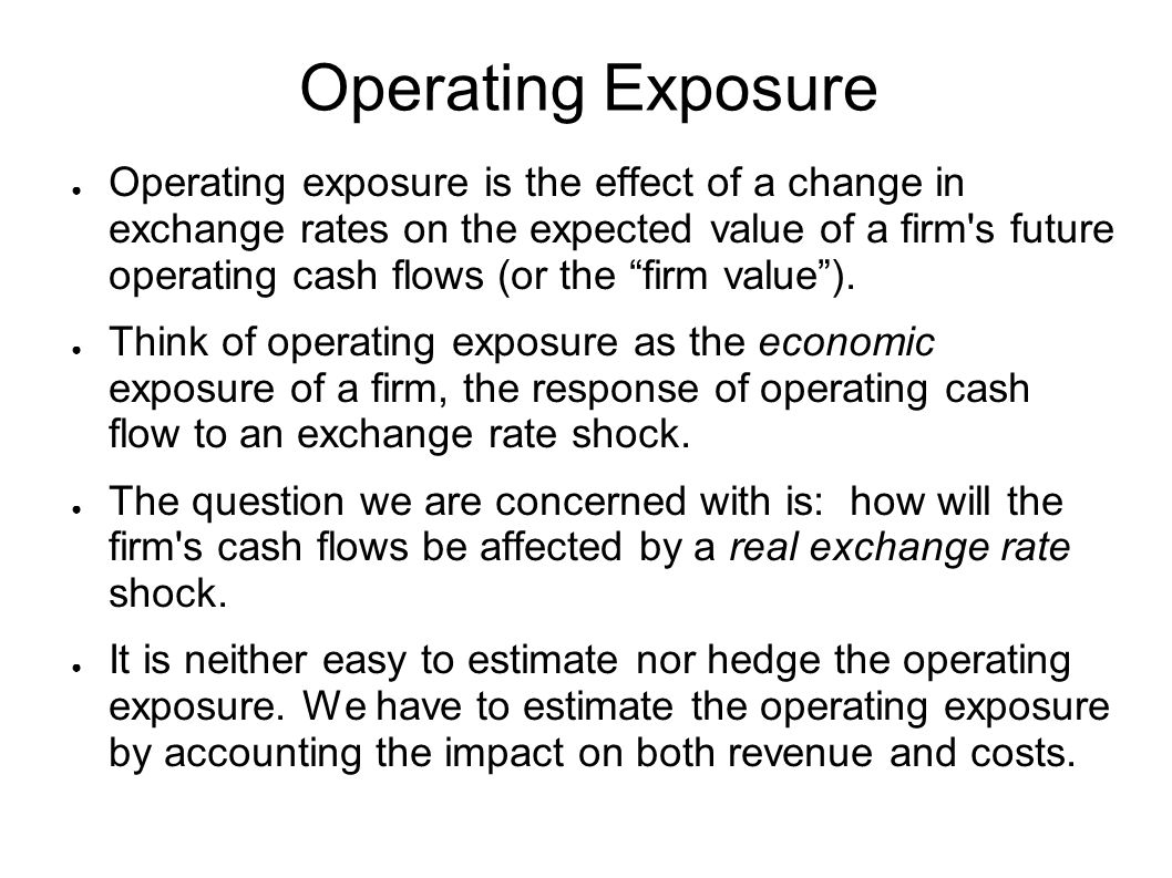 Operating Exposure