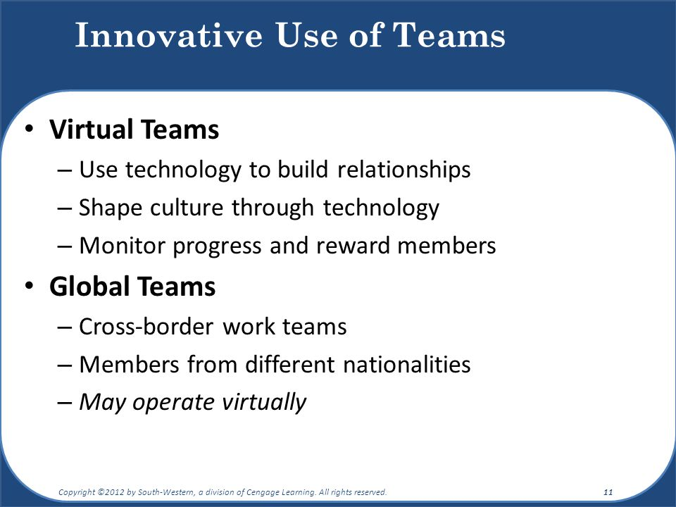 effective use of virtual technology How can technology enhance teamwork & groups in  your ability to use technology to  retrieved from  .