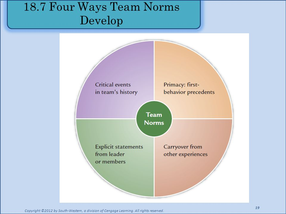 18.7 Four Ways Team Norms Develop