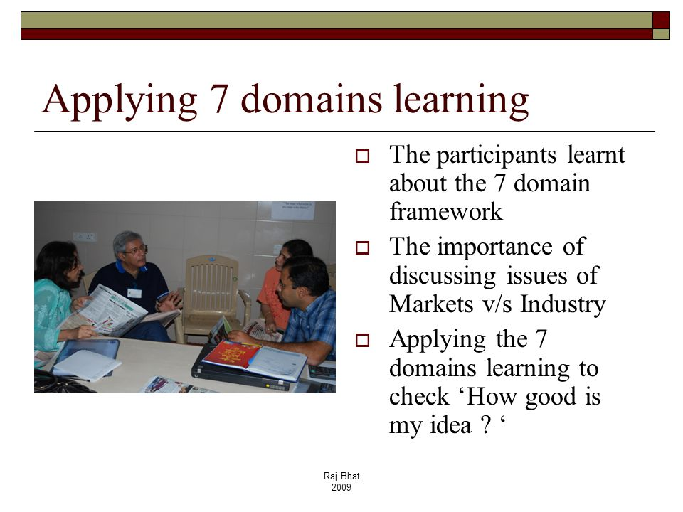 Applying 7 domains learning