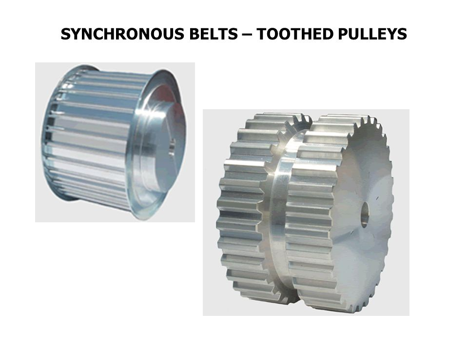 SYNCHRONOUS BELTS – TOOTHED PULLEYS