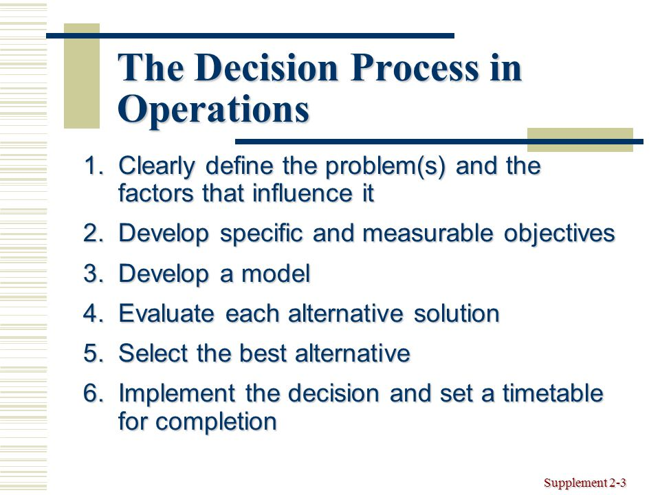 operational decisionmaking tools decision analysis ppt