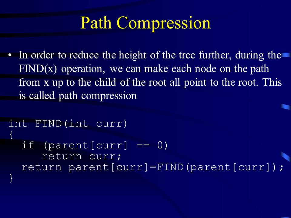 Path Compression
