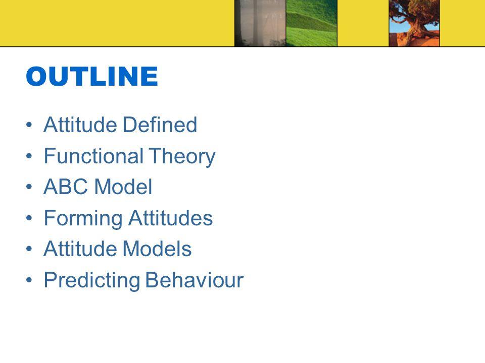 attitudes predicting bahiour Well attitudes predict behavior • describe attitude formation factors that  influence the attitude– behavior relationship • explain how attitude  accessibility and.
