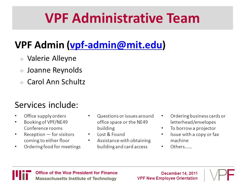 VPF New Employee Orientation - ppt download