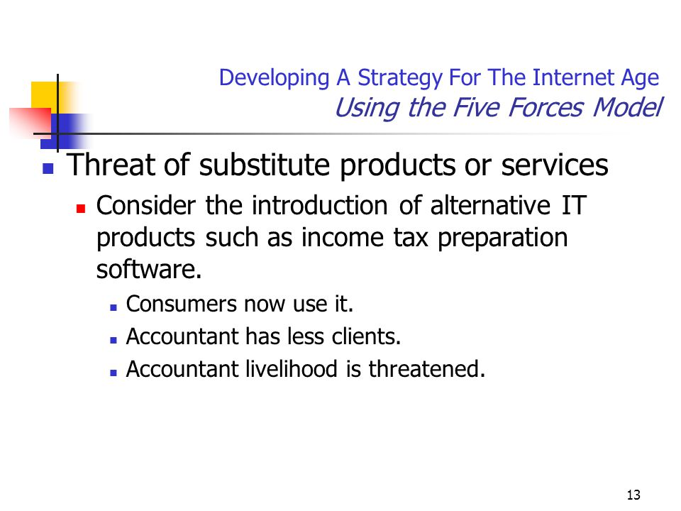 Developing A Strategy For The Internet Age Using the Five Forces Model