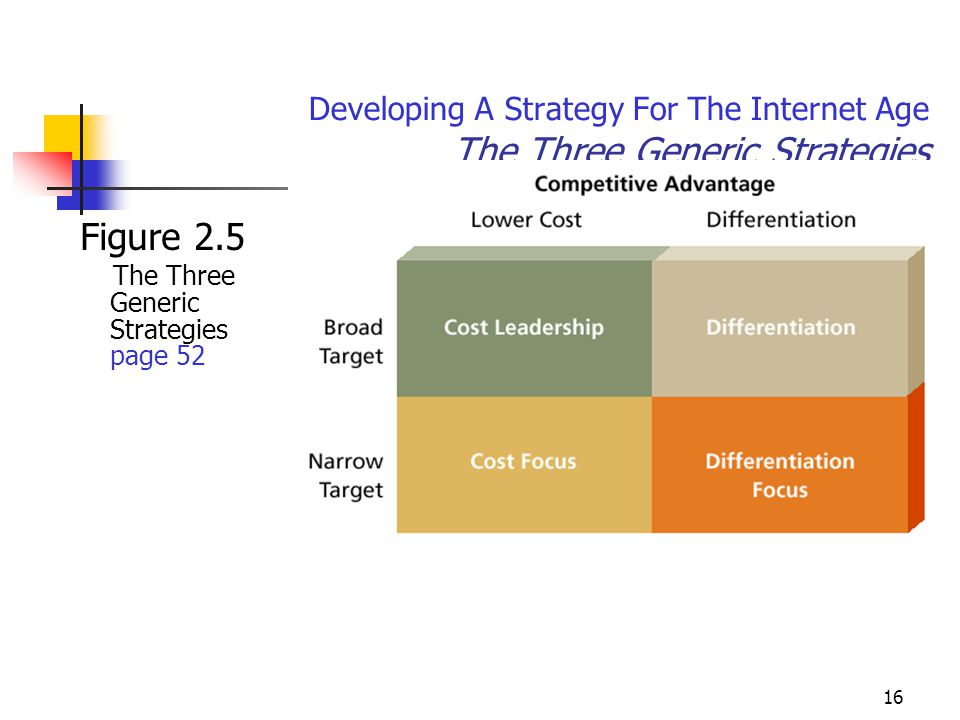 Developing A Strategy For The Internet Age The Three Generic Strategies
