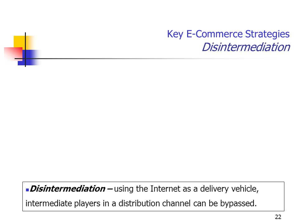Key E-Commerce Strategies Disintermediation