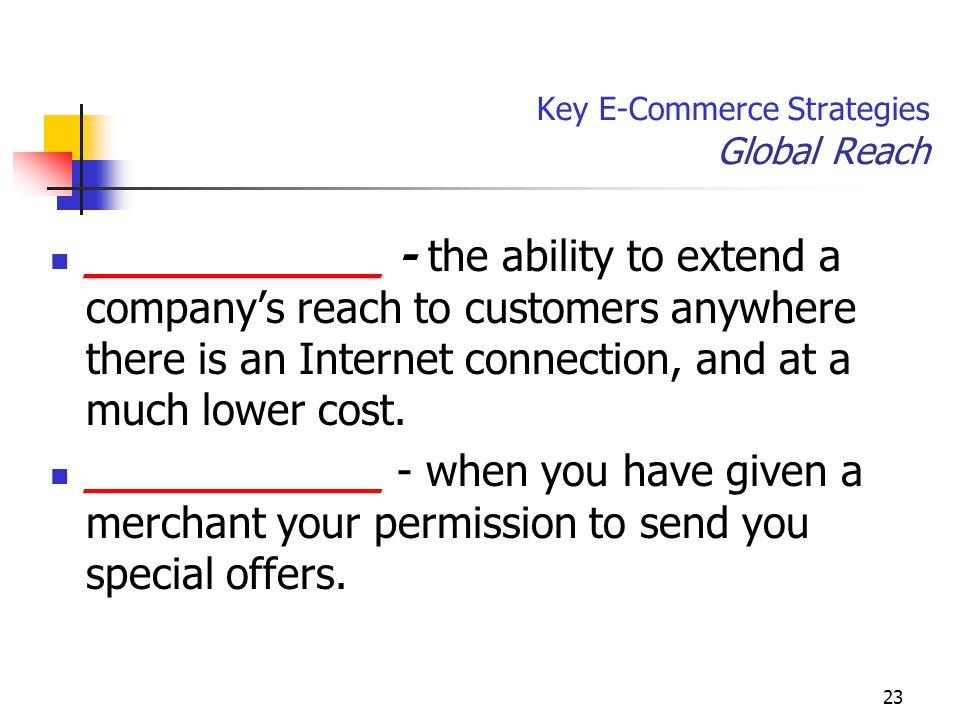 Key E-Commerce Strategies Global Reach