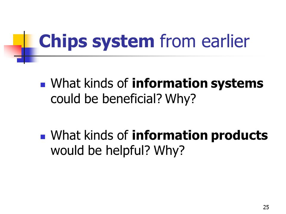 Chips system from earlier