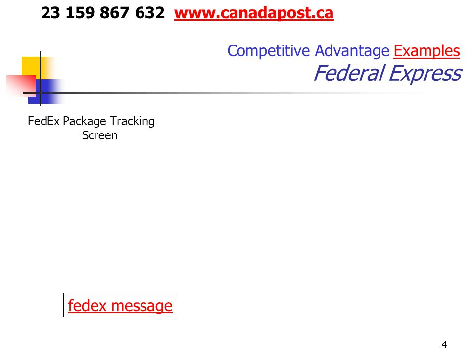 Competitive Advantage Examples Federal Express
