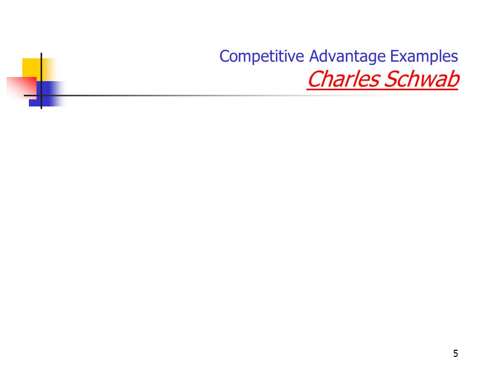 Competitive Advantage Examples Charles Schwab