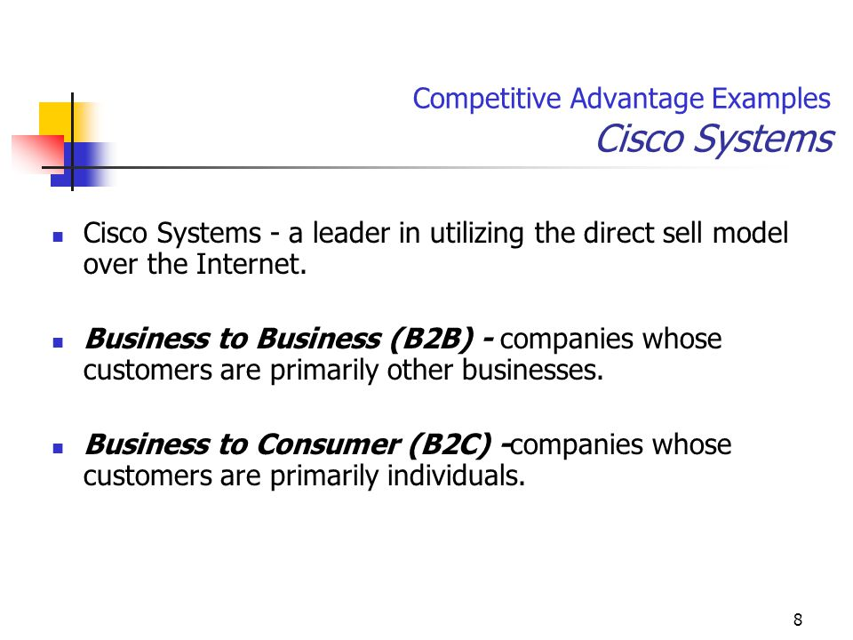 Competitive Advantage Examples Cisco Systems