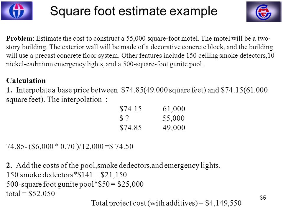 Ce 332 construction engineering and management ppt download for Estimating building costs per square foot