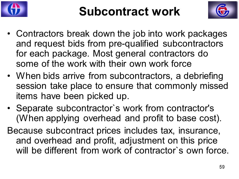 how to subcontract work in construction