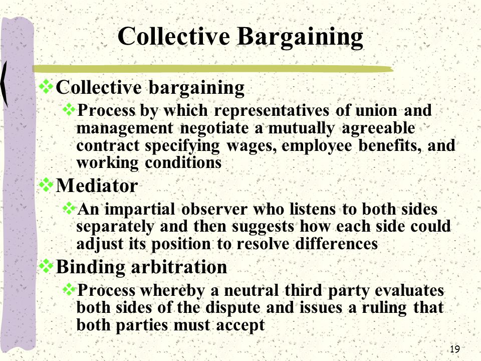 labor markets and collective bargaining essay Labor, wages, and collective bargaining economists study the supply and demand for labor under different sets of conditions companies may hire workers in competitive or monopsonistic labor markets, and they may sell their output in competitive or monopolistic product markets.