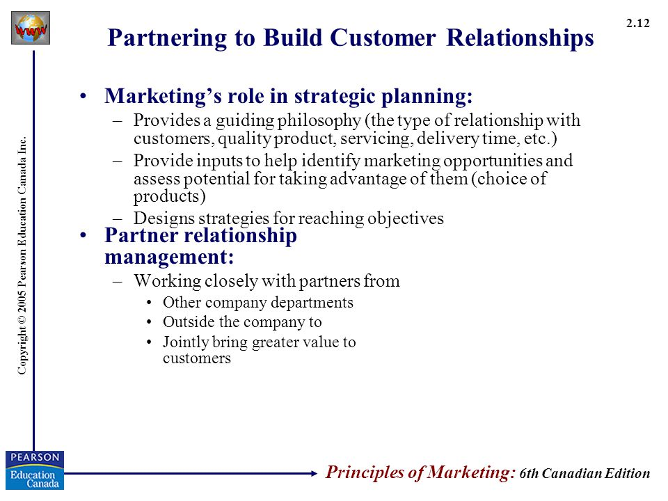 basic principles of relationship marketing and customer