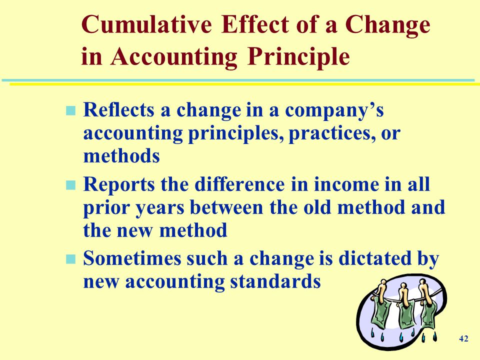 effects of changing accounting standards Changing accounting policies,  international or national accounting standards dealing with income  accounting policies, changes in accounting estimates and.