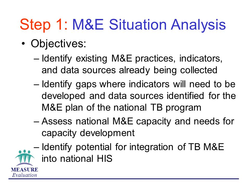 Step 1: M&E Situation Analysis