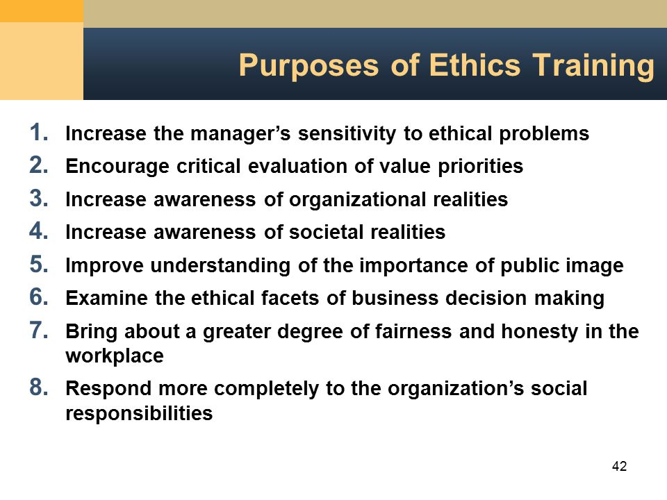 Personal and organizational ethics ppt video online download purposes of ethics training publicscrutiny Image collections