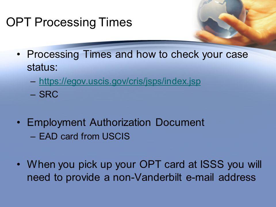 Ead j2 processing time