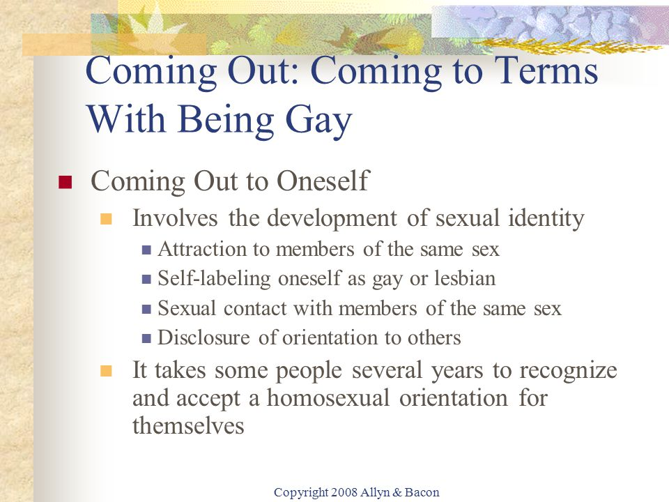 Coming To Terms With Being Gay 67