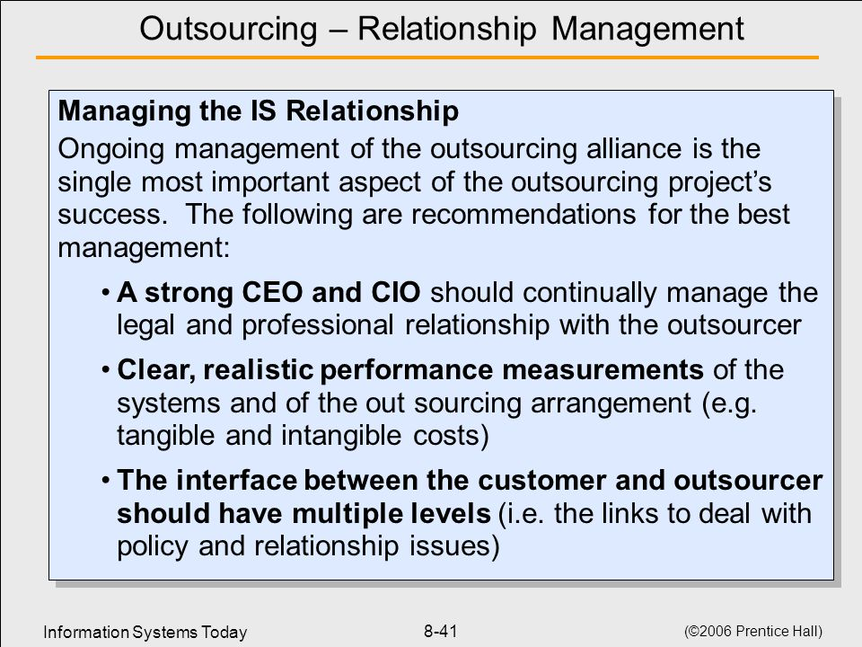 outsourcing relationship management tools
