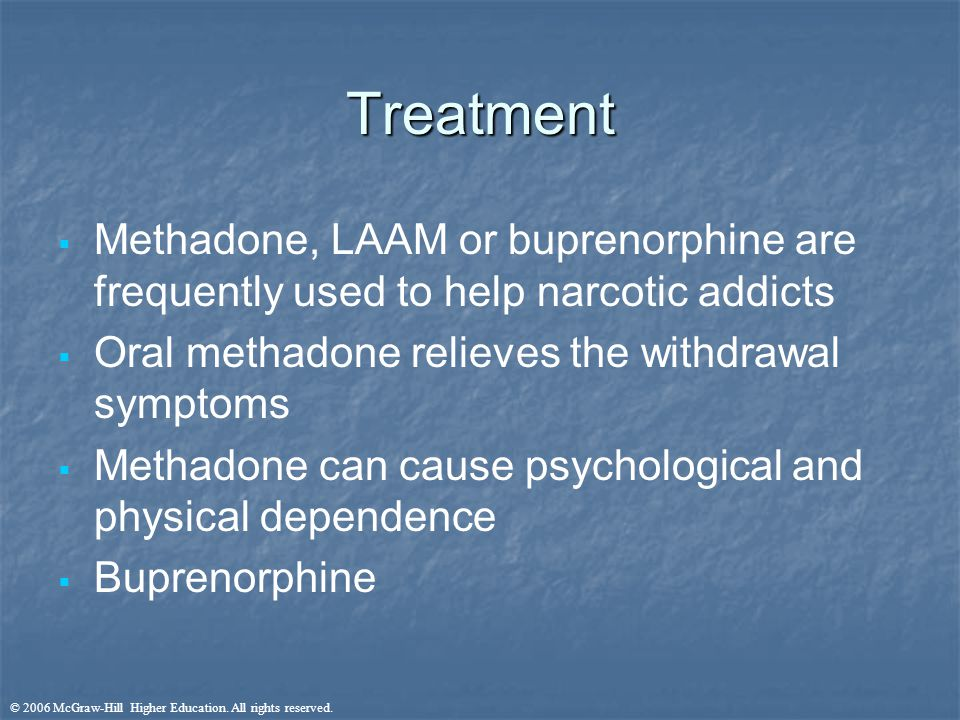 methadone therapy essay Methadone is typically prescribed by medical professionals for the treatment of heroin and other opiate addiction, based on the longer-lasting effects of the drug as a deterrent to illegal use of narcotics the effects of methadone treatment as an option for addicted clients has shown to be somewhere between highly-effective and partly-effective.