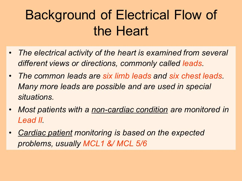 Background of Electrical Flow of the Heart