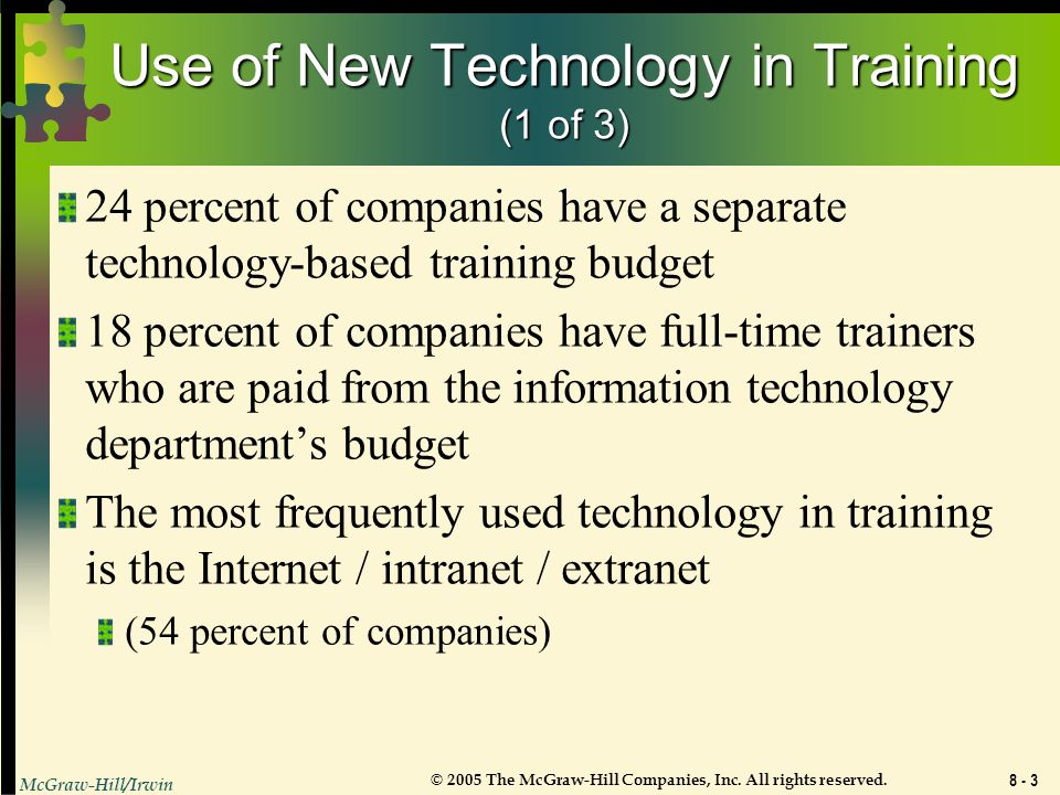 Use of New Technology in Training (1 of 3)