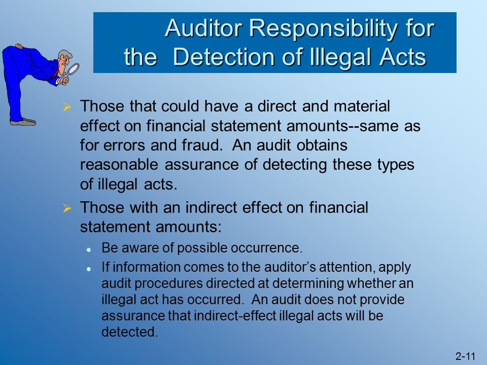 what responsibility does an auditor have to detect material misstatements due to errors and fraud Responsibility of auditor the financial audit is conducted by auditor to obtain reasonable assurance that financial statements are free from material misstatement caused by fraud and errors due to certain inherent limitation, even an audit that is properly planned and performed in accordance with generally.