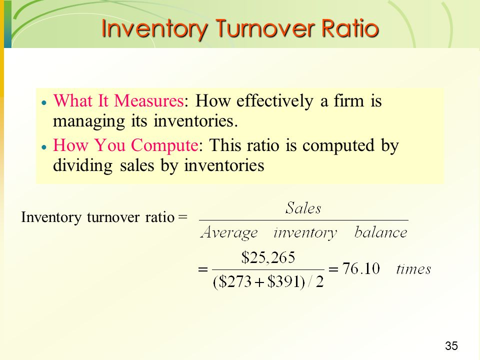 how to find inventory turnover ratio