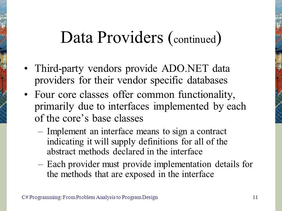Database Access Using ADO.NET - ppt download