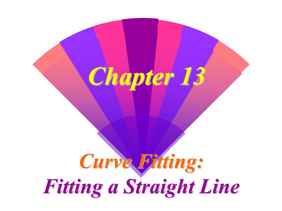 Curve Fitting: Fitting a Straight Line