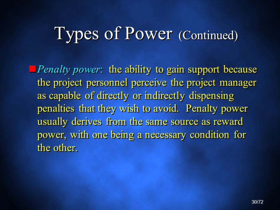 types of power in management Within the workplace, there are seven common forms of power: coercive,  often  grow to resent their managers at the cost of job satisfaction and motivation.