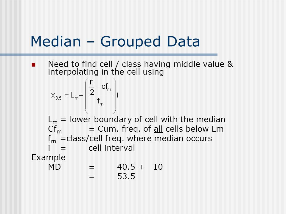 Chap 2 introduction to statistics ppt download 30 median grouped data need to find ccuart Images