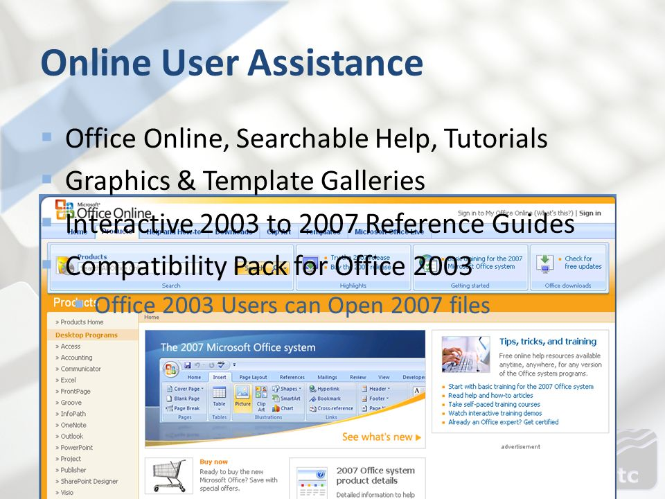 Online User Assistance