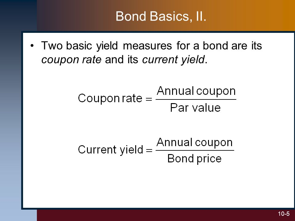 bond and coupon rate Duration: understanding the relationship between bond prices and interest rates consider a bond investment's duration to understand the potential impact of.