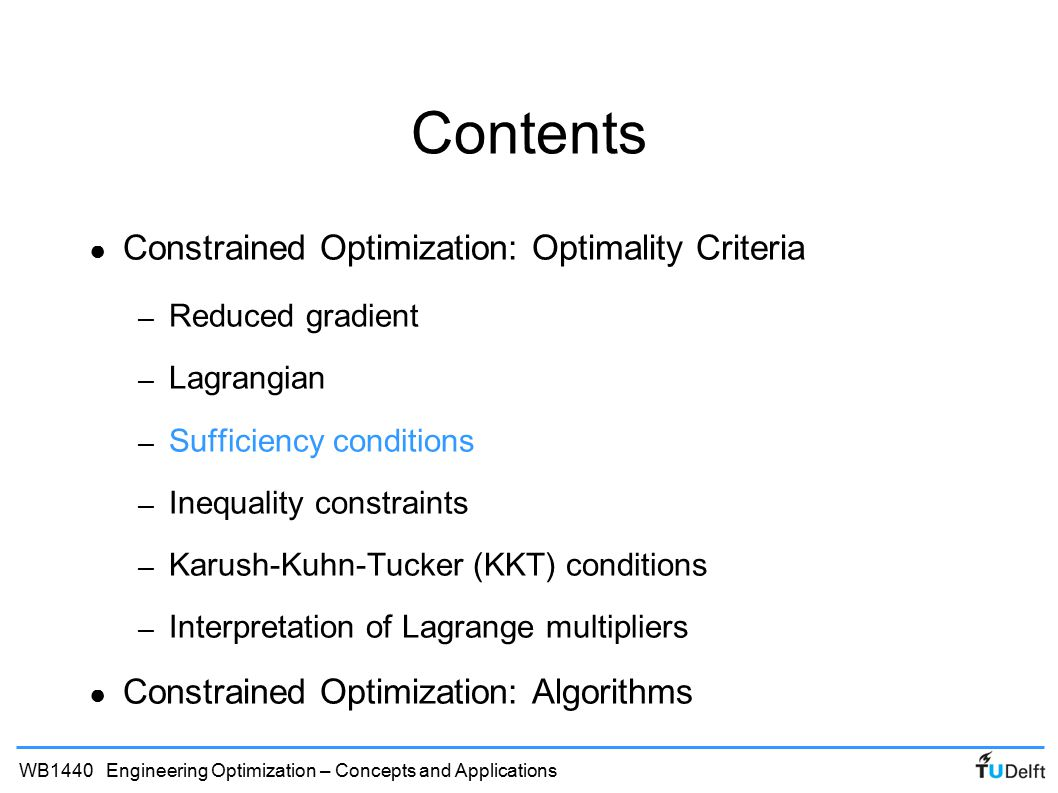 Engineering optimization ppt video online download contents constrained optimization optimality criteria robcynllc Choice Image