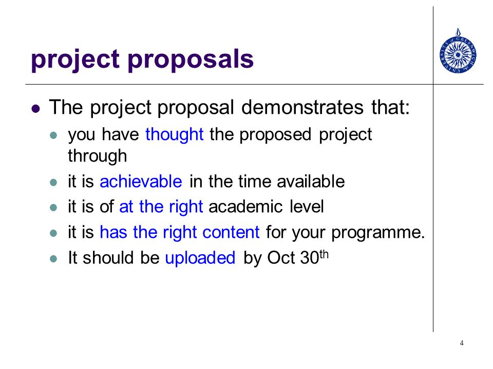 Your Project Proposal  Ppt Video Online Download