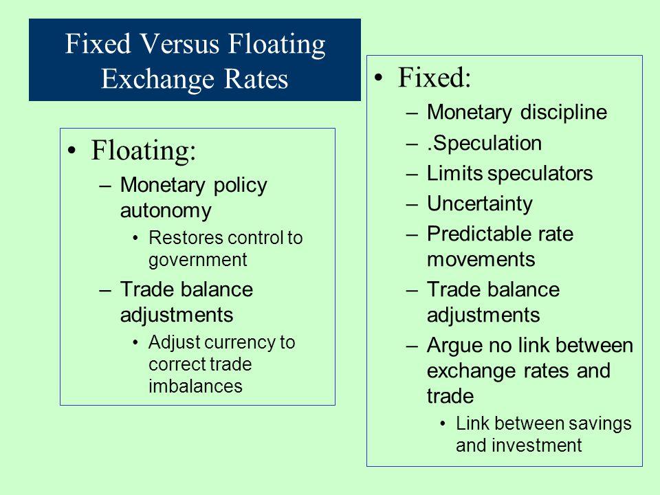 fixed exchange rate regime pdf