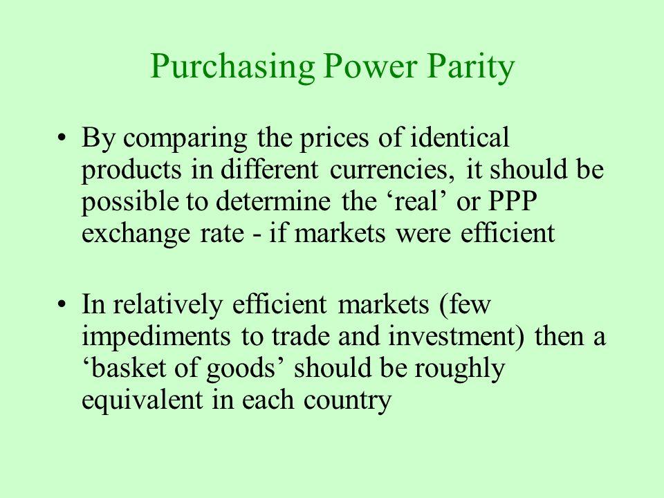 the purchase power parity big mac essay