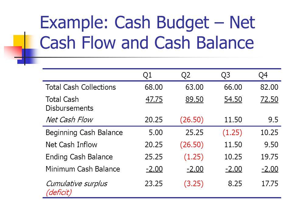 cash flow budget example