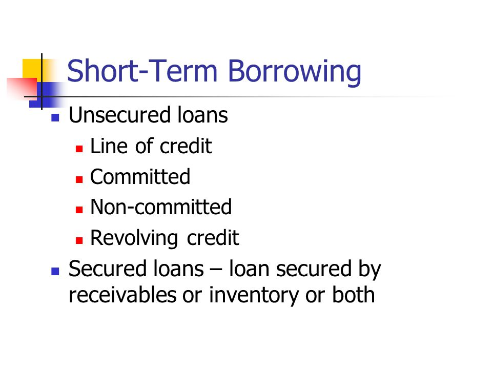 Short Term Personal Loans: Secured vs Unsecured - loan.com
